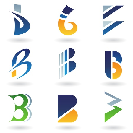 logos design: Vector illustration of abstract icons based on the letter B Illustration