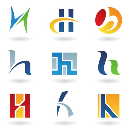 companies: Vector illustration of abstract icons based on the letter H