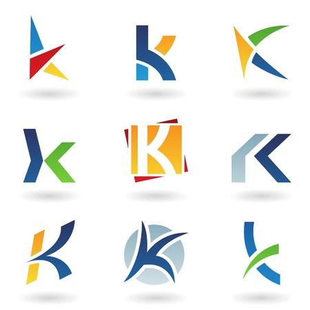 buchstabe k: Vektor-Illustration der abstrakte Symbole basierend auf dem Buchstaben K