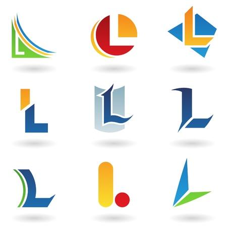 tipos de letras: Ilustraci�n de vector de iconos abstractas basada en la letra l