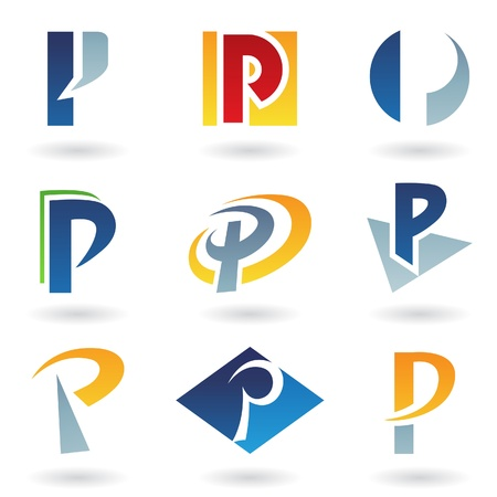 Vector illustration of abstract icons based on the letter P Stock Vector - 9866964