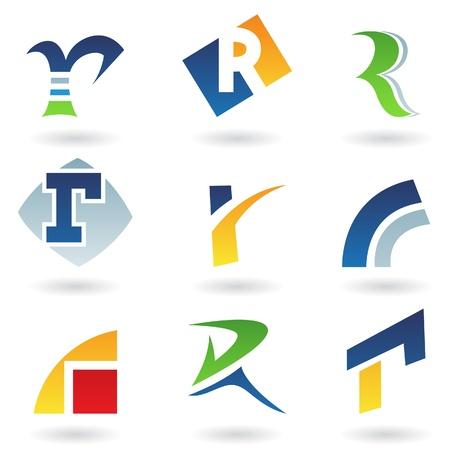 tipos de letras: Ilustraci�n de vector de iconos abstractas basada en la letra r