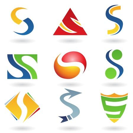 letra s: Ilustraci�n de vector de iconos abstractas basada en la letra s
