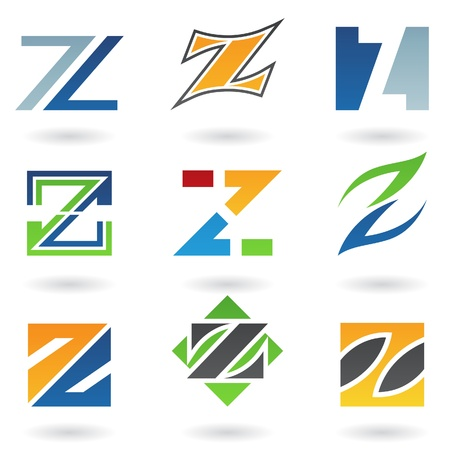 based: Vector illustration of abstract icons based on the letter Z