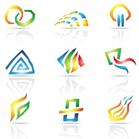 illustration of Cool Lines Abstract Icons Stock Vector - 10049805