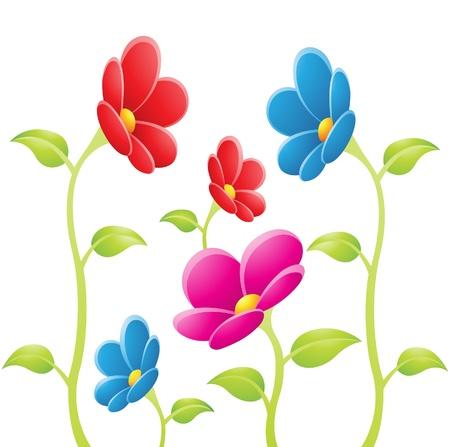 white flowers: illustration of Flowers on a white background Illustration