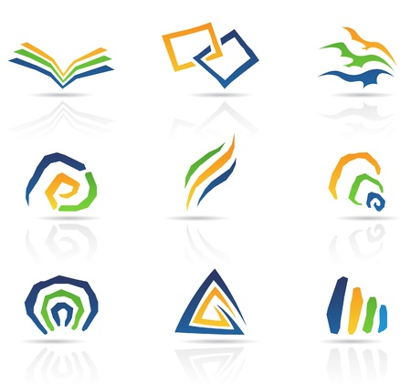 book logo: Ilustraci�n de libre estilo abstracto iconos