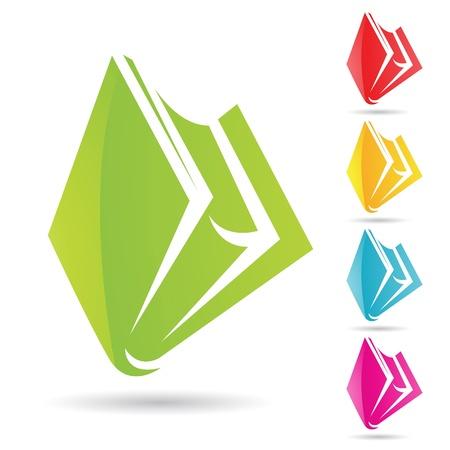 Vector illustration EPS de icônes colorées livre Banque d'images - 11084290