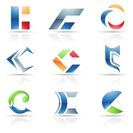 Vector illustration of abstract icons based on the letter C Vector