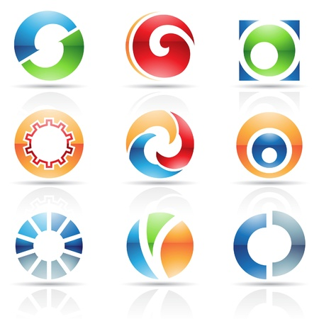 based: Vector illustration of abstract icons based on the letter O