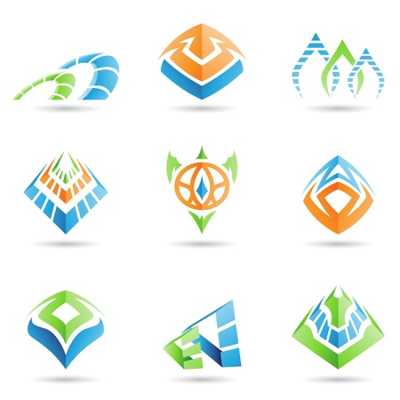 mystic: mystic pyramid like symbols Illustration