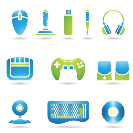 Various graphic design style PC accessories Vector