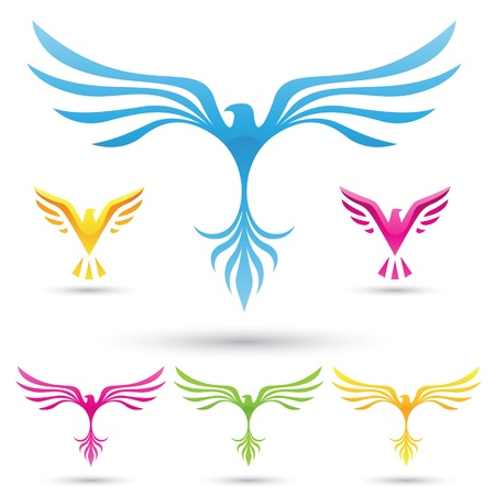 vector illustration of  various birds icons Vector