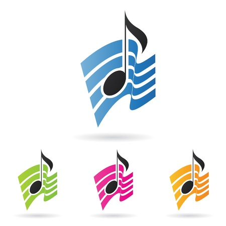 nota musical: ilustraci�n de una nota musical Vectores