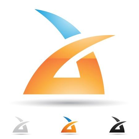 logos de empresas: iconos abstractos basados ??en la letra A