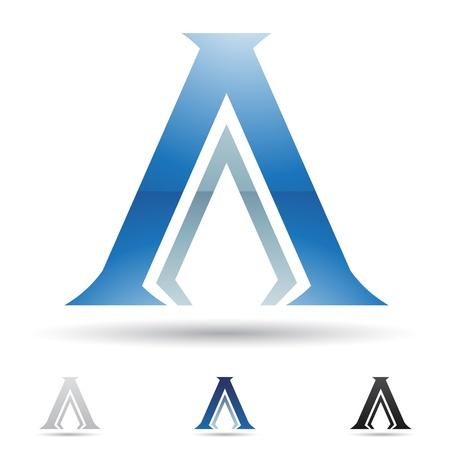 icons logo: abstrakte Symbole auf dem Buchstaben A basiert