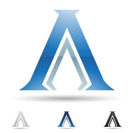 tipos de letras: iconos abstractos basados ??en la letra A