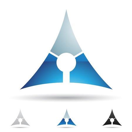 삼각형: 문자에 따라 추상 아이콘 일러스트