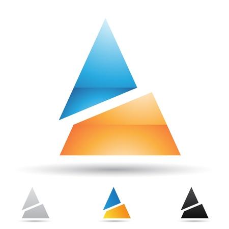 abstracte iconen op basis van de letter A