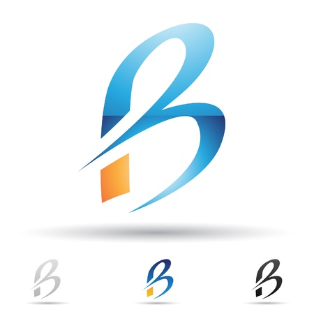 letter b: abstract icons based on the letter B