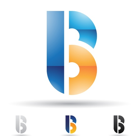 round logo: abstract icons based on the letter B