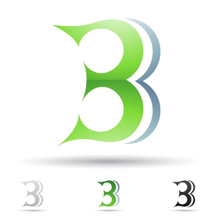 abstract icons based on the letter B Vector
