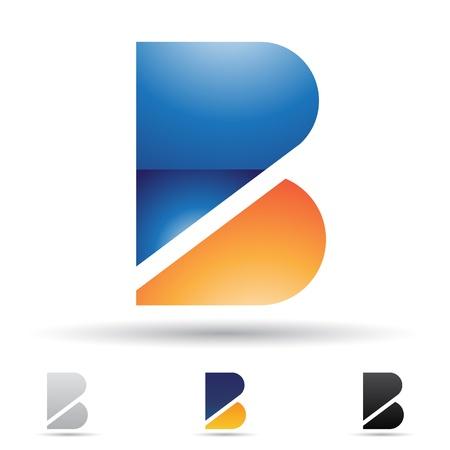 logos de empresas: iconos abstractos basados ??en la letra B Vectores