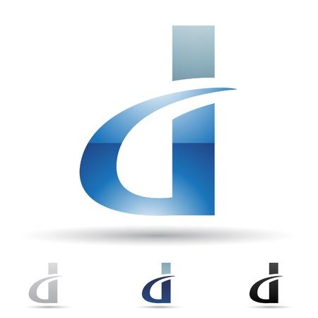 文字 D に基づく抽象的なアイコンの図  イラスト・ベクター素材