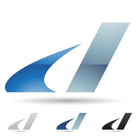 tipos de letras: ilustraci�n de los iconos abstractos sobre la base de la letra D Vectores