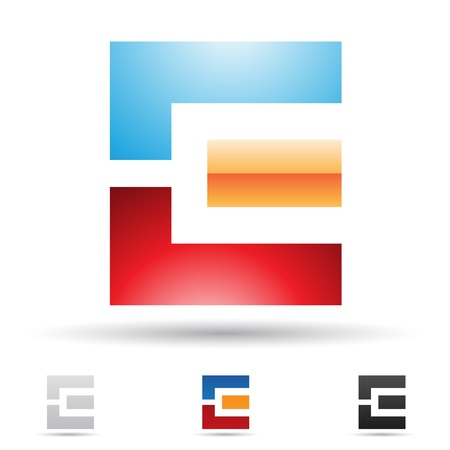based: illustration of abstract icons based on the letter E