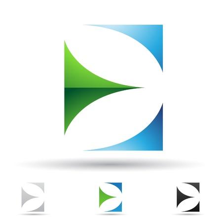 logotipos de empresas: ilustraci�n de los iconos abstractos basados ??en la letra E