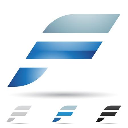 logos empresas: ilustraci�n de los iconos abstractos basados ??en la letra F Vectores