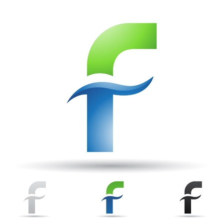 illustration of abstract icons based on the letter F Vector