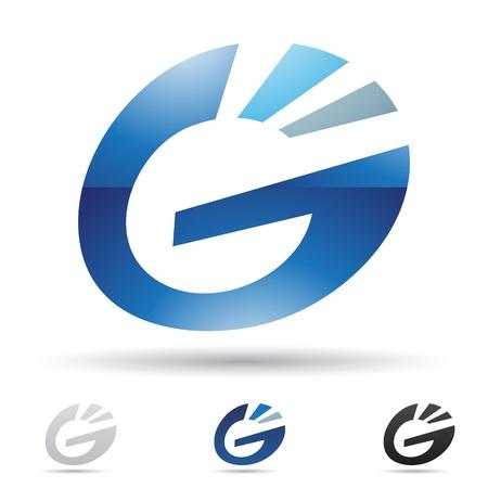 illustratie van abstracte iconen gebaseerd op de letter G