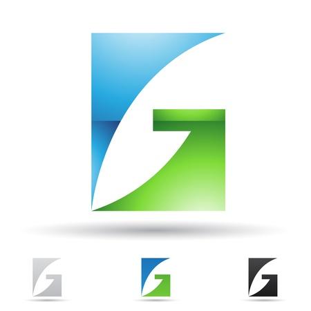 letras negras: ilustraci�n de los iconos abstractos basados ??en la letra G Vectores