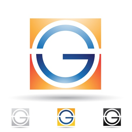 g: illustration of abstract icons based on the letter G