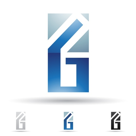 illustration of abstract icons based on the letter G Vector
