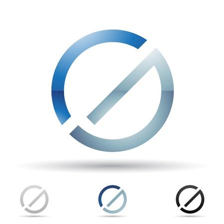 icons logo: Illustration der abstrakten Symbole auf der Basis von Buchstaben G