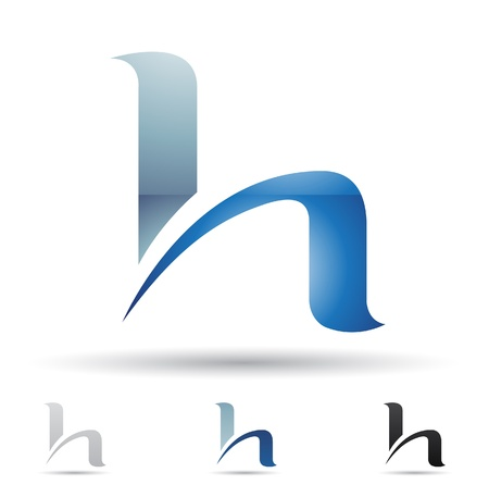 letter h:  illustration of abstract icons based on the letter H