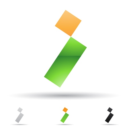 rectángulo: ilustración de los iconos abstractos basados ??en la letra I
