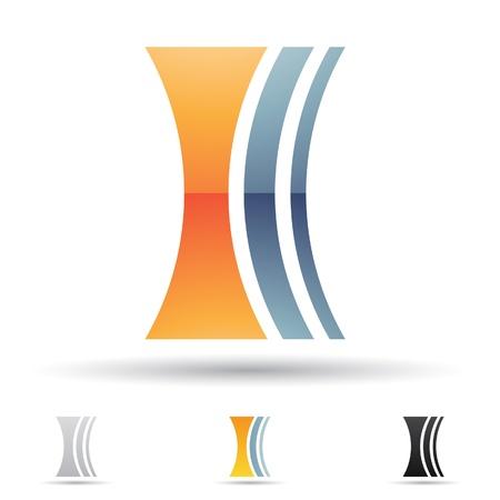 illustratie van abstracte iconen gebaseerd op de letter I