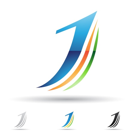 手紙 J に基づく抽象的なアイコンの図  イラスト・ベクター素材