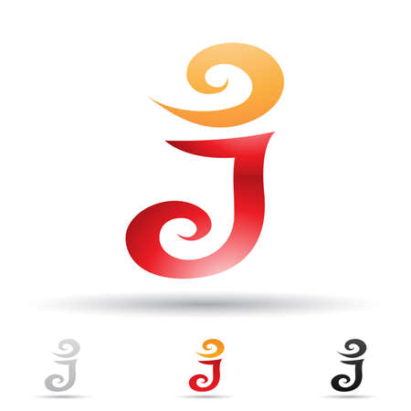 illustration of abstract icons based on the letter J Vector