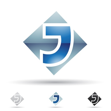 j: illustration of abstract icons based on the letter J