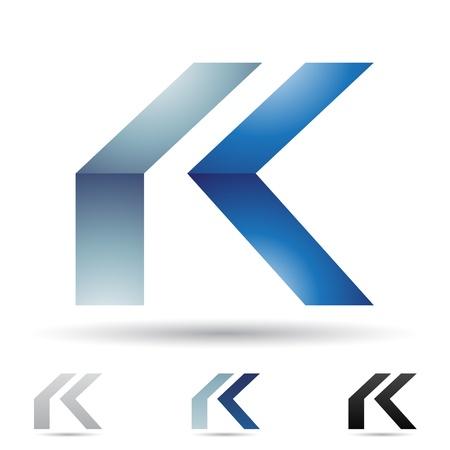illustratie van abstracte iconen gebaseerd op de letter K