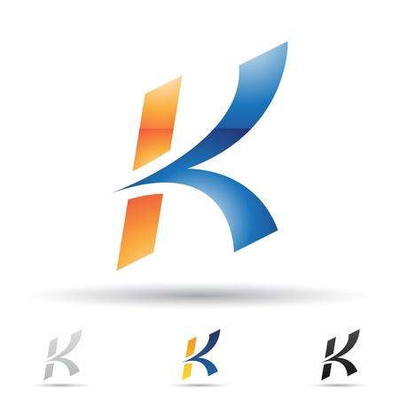 ilustración de los iconos abstractos basados ??en la letra K