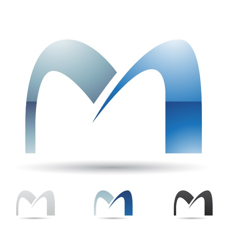 letras negras: ilustraci�n de los iconos abstractos basados ??en la letra M Vectores