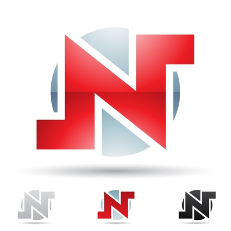 round corner:  illustration of abstract icons based on the letter N
