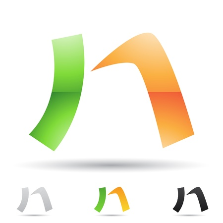 capital letter:  illustration of abstract icons based on the letter N