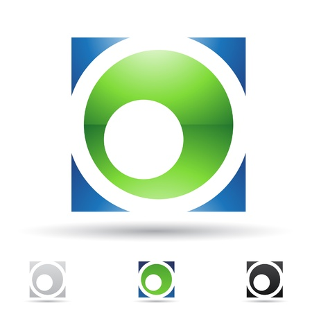 illustration of abstract icons based on the letter O Stock Vector - 14621729